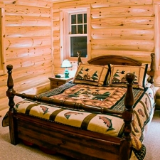 3x10 Log Siding Bedroom