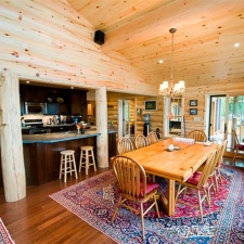 Log Siding Dining Room