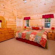 Half Log Siding Bedroom