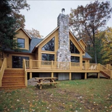 Exterior Log Home Railing