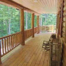 Cedar Log Railing Porch