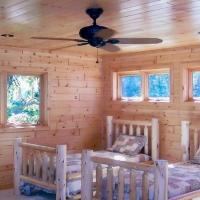 Cedar Paneling Bedroom
