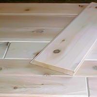 Cedar Paneling Close-up