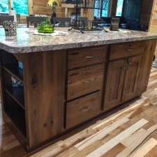 Custom Stained Hickory Island