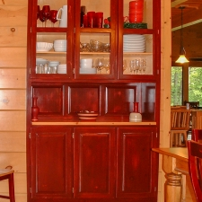 Custom Stained White Pine Hutch