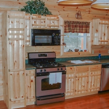 Knotty Pine Rustic Log Style Cabinetry