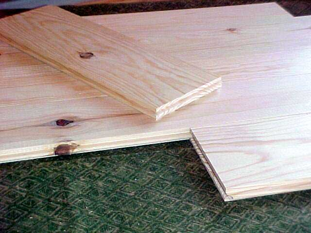 Knotty pine flooring pine decking woodworkers shoppe for Tongue and groove roof decking