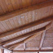 Pine Log Rafters