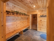 Knotty Pine Paneling Foyer