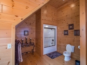 Knotty Pine Paneling Bathroom w/Stain