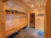 Knotty Pine Paneling Foyer
