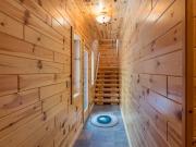 Knotty Pine Paneling Hallway