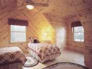 knotty pine bedroom