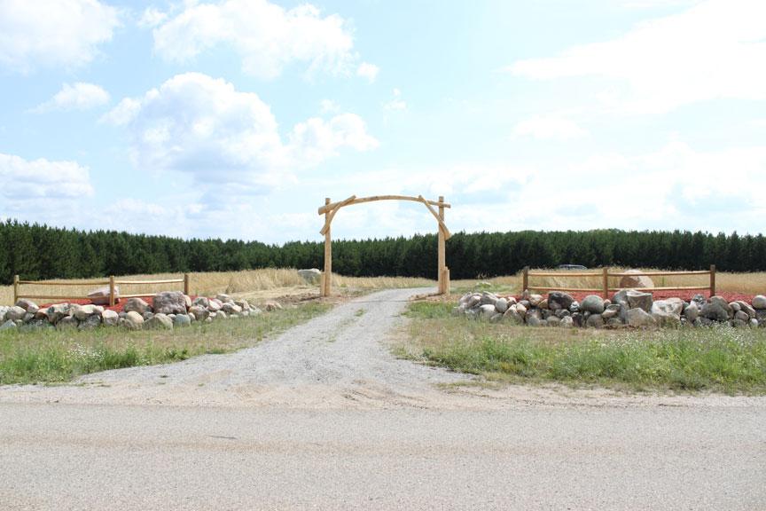 Log Entrance Sign