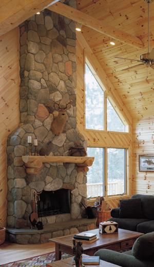 Rustic Log Mantle