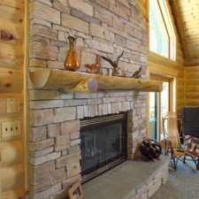 Rustic Log Mantle