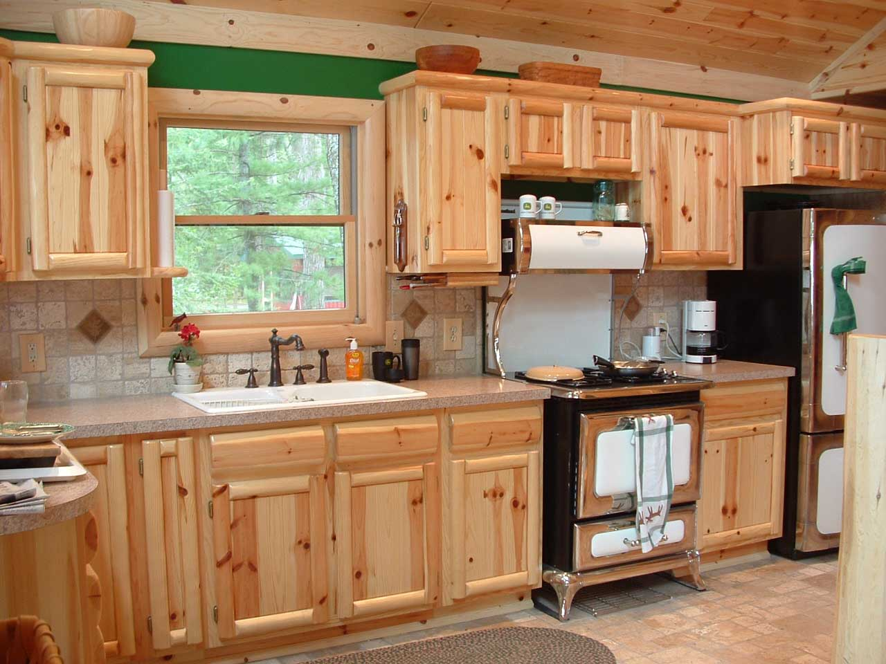 Knotty pine kitchen cabinets wholesale roselawnlutheran for Cheap kitchen cupboards