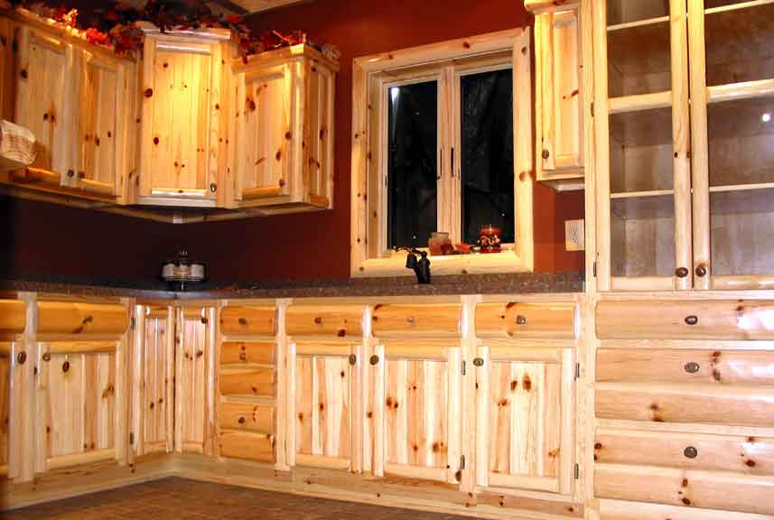 Aspen Log Kitchen Cabinets