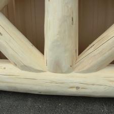 Close up detail log truss