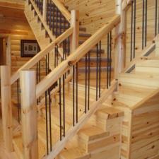 Log Siding: Living Room