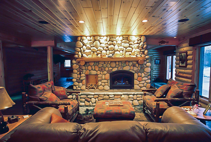 Man Cave Bet Show : Rustic man cave build your own log cabin
