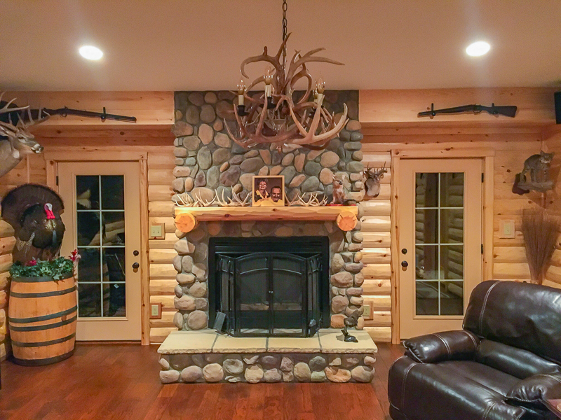 Man Cave With Fireplace : Rustic man cave build your own log cabin