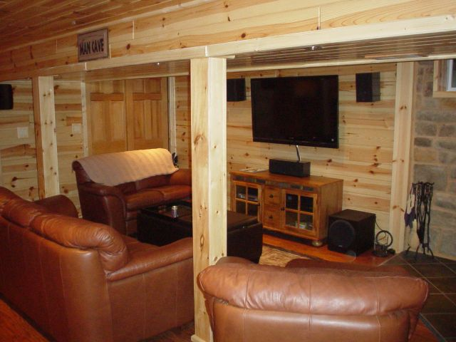 Rustic Man Cave Of : Rustic man cave build your own log cabin