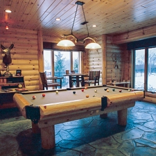 Man Cave Log Pool Table