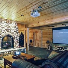 Man Cave Log Siding Basement