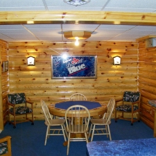 Man-Caves log siding game room