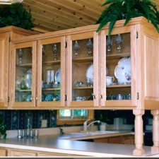 Oak Cabinetry w/Glass Doors