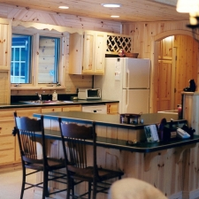 Knotty Pine Insert Kitchen Cabinetry