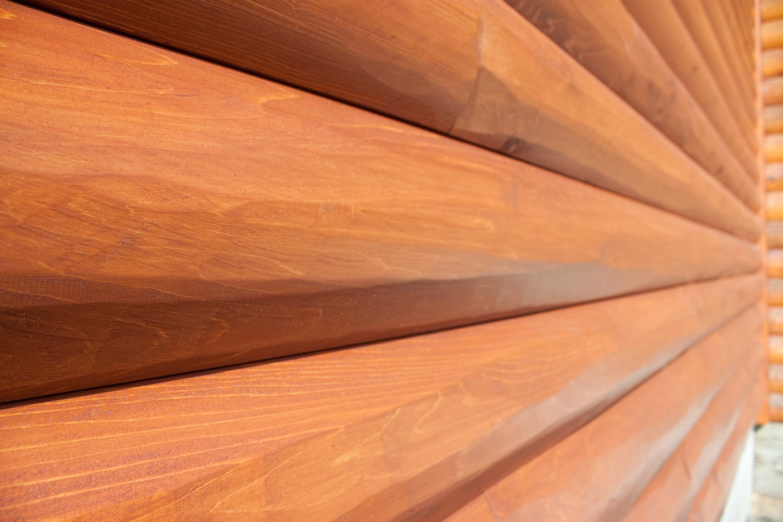 Prefinished Log Siding Half Log The Woodworkers Shoppe