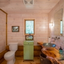 Studio Bathroom in White Wash Paneling