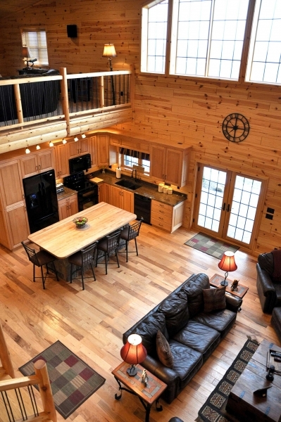 log siding interior design