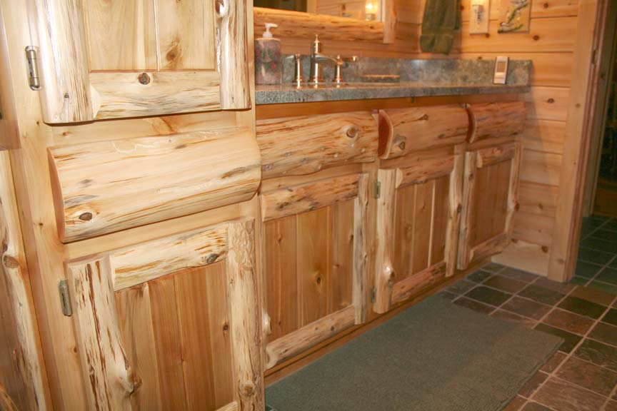 Exceptionnel Rustic Cedar Log U0026 Panel (Cedar Kitchen Cabinets)