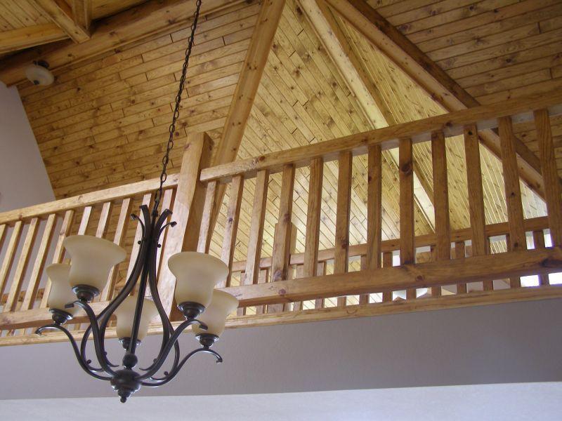 Rustic Log Railing ~ Log railings and stairs cedar pine railing systems