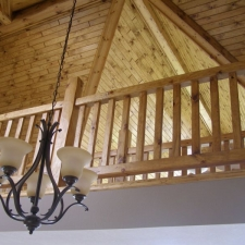 Pine Rustic Railing in Loft
