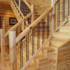 Knotty Pine Stair Treads
