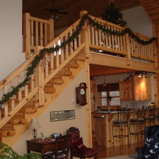 Knotty Pine Timber Stair System