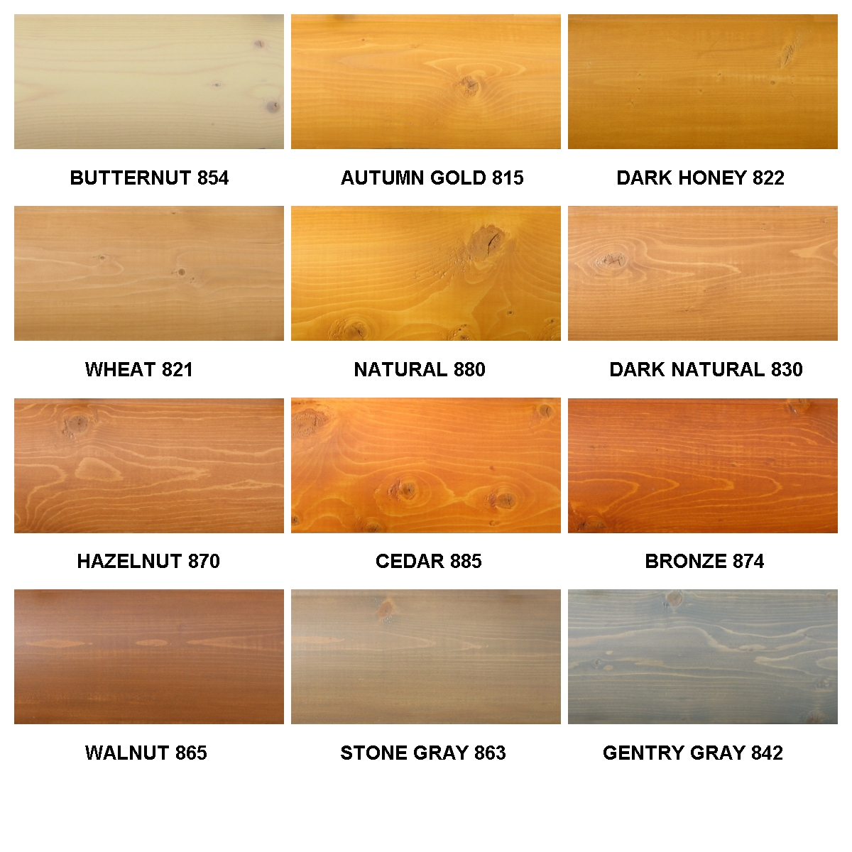 Sikkens Stain Color Chart