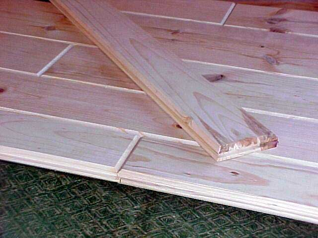 Wood pine cedar siding samples log home kit samples for Tongue and groove roof decking