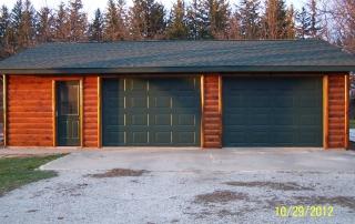 Garage Log Siding