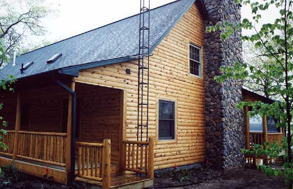 Quarter Log Siding