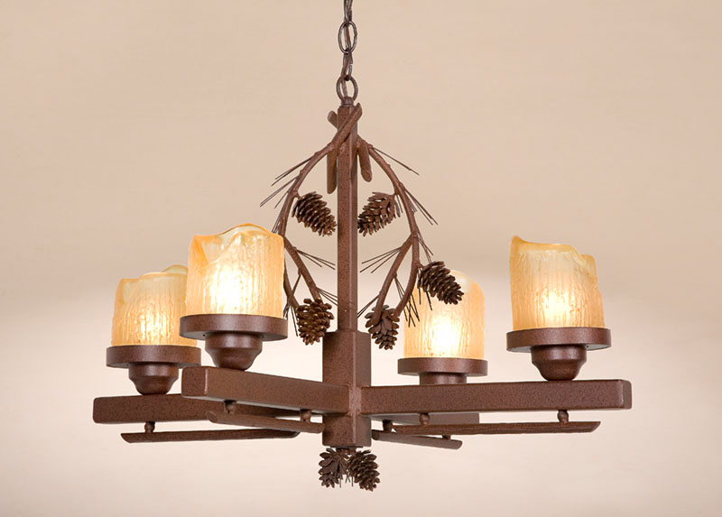 Rustic indoor outdoor lighting fixtures cabin lamps Log cabin chandelier