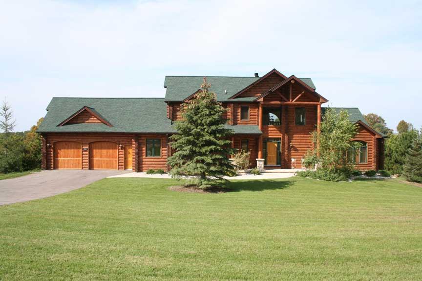 log cabin log home