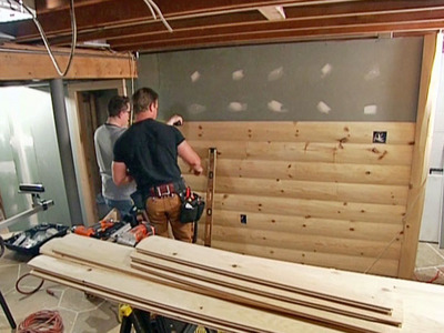 Jason Cameron From The DIY Channel Installs Our 2 X 8 Log Siding With The  Homeowner In This U201cRustic Man Caveu201d Installation