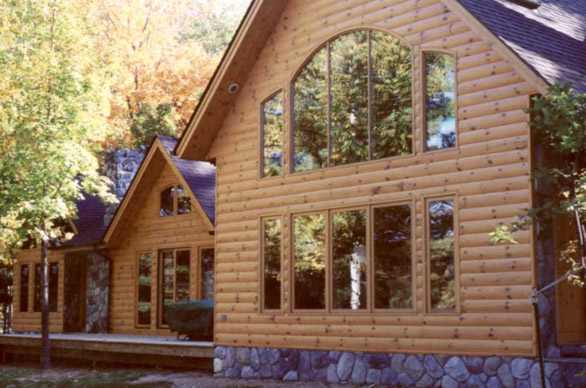 Quarter Log Siding Wood Siding The Woodworkers Shoppe
