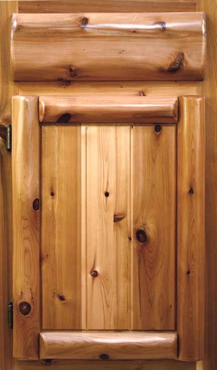 Ordinaire Cabinet Door Styles. Log U0026 Panel (Cedar)
