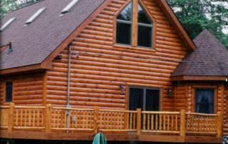log sided home